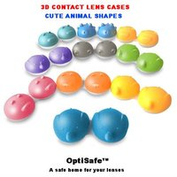 3D Animal contact lens cases