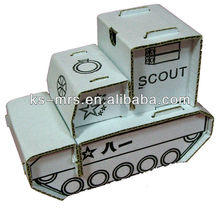 Folding paper toys -- Armored vehicles