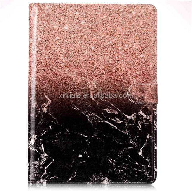 Hot selling marble pu leather wallet Colorful Printing PU Leather Tablet Cover Case for Apple iPad mini 1 2 3