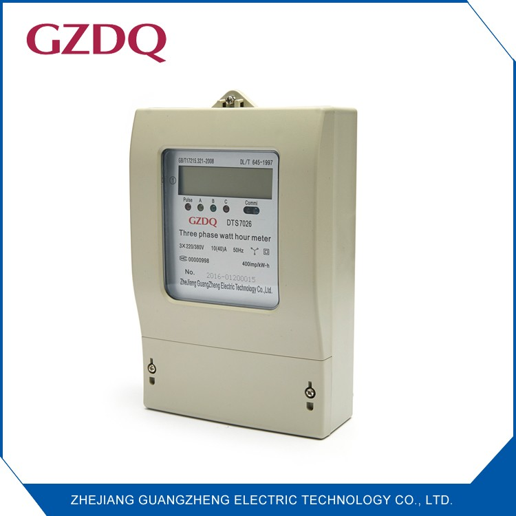 Class 1 electronic smart LCD display kwh meter digital 3 phase