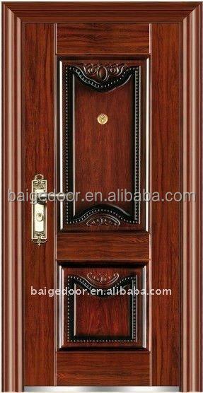 Bg s9206 elegant steel security metal main door design for Elegant main door designs
