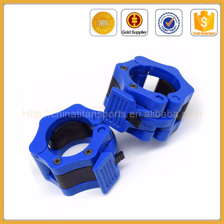 Quick Release Barbell Clamp Locking Collars with Carrying Case