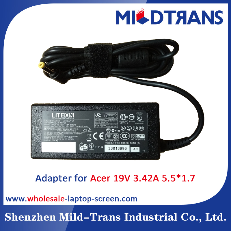 Wholesale High Quality 19V 3.42A 60W 5.5*1.7 Laptop Adapter for Acer Laptop AC Adapter
