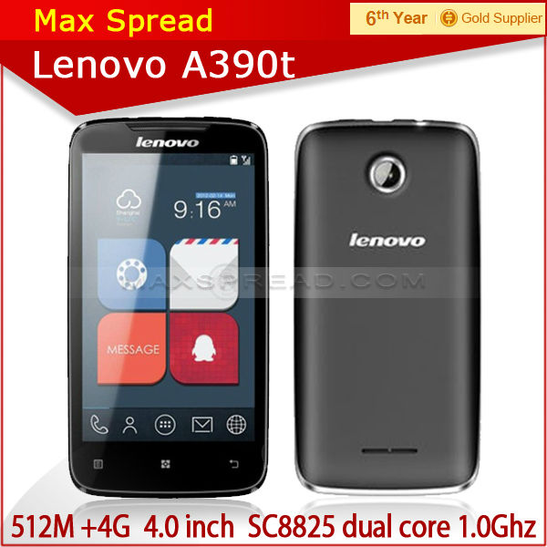 100% Original Lenovo A390T mobile Phone 4.0 Inch Touch Screen 3G GPS fancy mobile phones