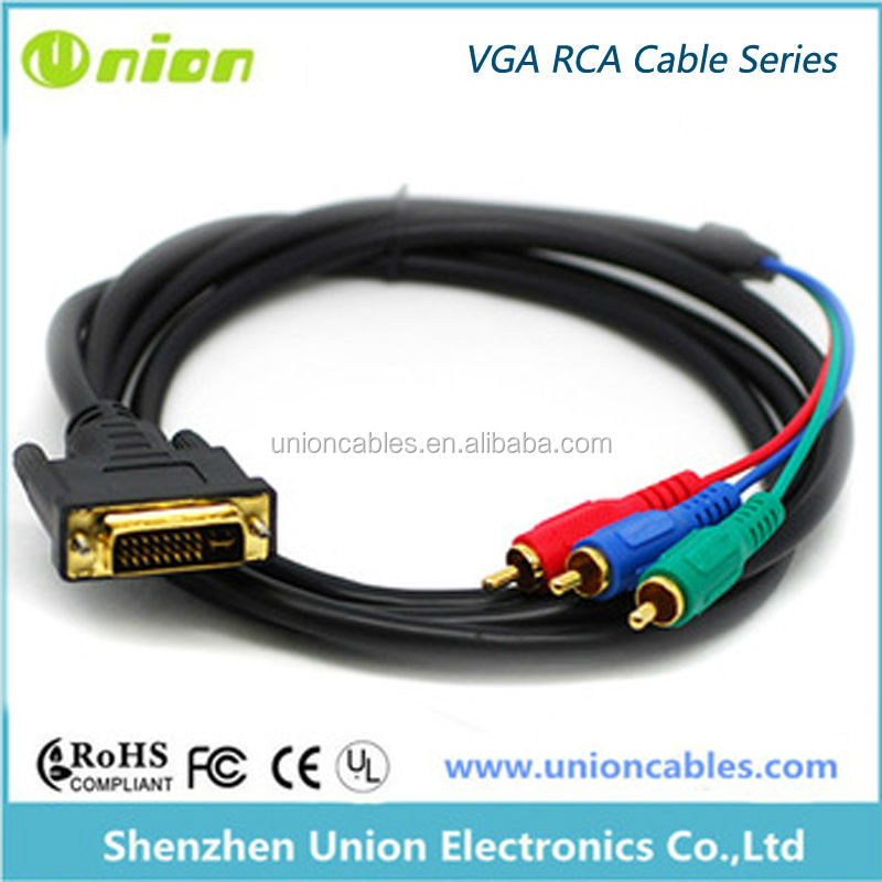 Hot Sell,High Quality Cable, Rca to Vga Male To Male 15 Pin converter