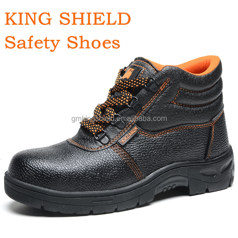 China Cheap Safety Shoes rubber sole,industrial safety shoes,leather work safety boots