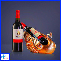 Decorative peacock wine bottle holders