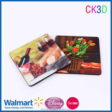 Customized plastic lenticular cover and EVA non-slip table mat coaster cup pad