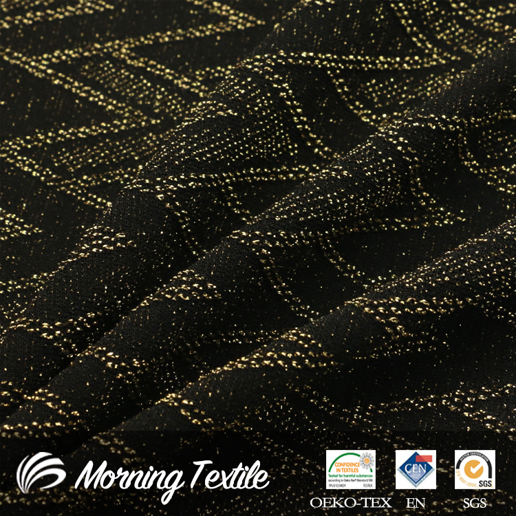 Nylon/Polyester/Spandex Weft Weave Knitted Jacquard Brocade Fabric