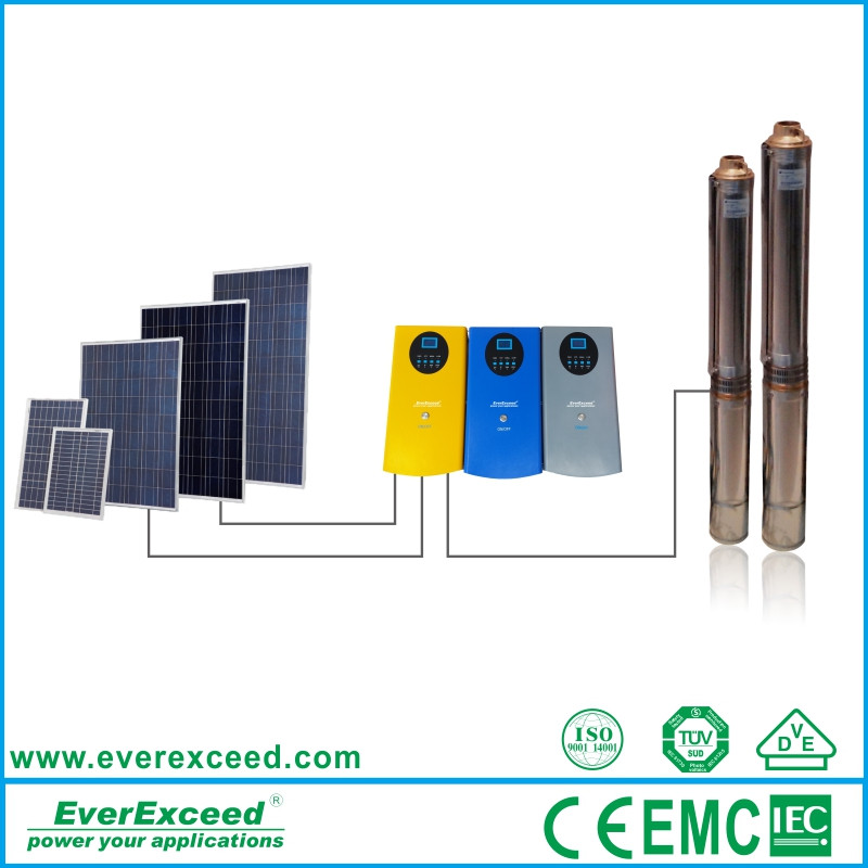 Best selling products 2016 EverExceed high quality solar powered water pump price 10kw home solar worter pump