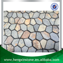 China Factory Direct Sales 70*50*1CM Natural Black And Rusty Flagstone Exterior Stone Wall Cladding