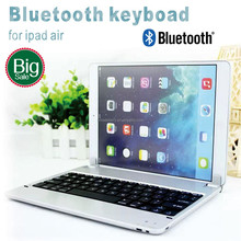Ultra thin aluminium alloy bluetooth keyboard for iPad air ipad5 wireless keyboard for ipad air