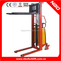 NBO container reach stacker, hydraulic stacker, manual hydraulic stacker for sale