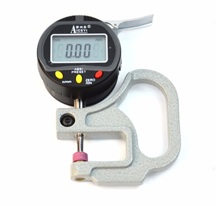 Wholesaler 0.01mm Digital <strong>thickness</strong> meter gauge for paper film cloth leather plate