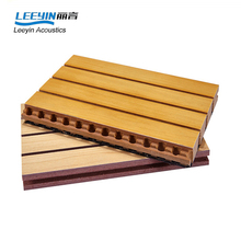 cheap sound absorption materials wood grooved acoustical panel for studios