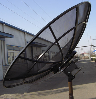 2.4m240 cm c band satellite aluminium dish antenna with pole mount