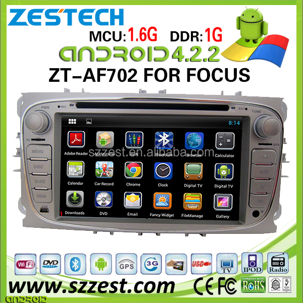 ZESTECH 2 din android car multimedia for Ford focus navigation system with 3g wifi in-dash navigation systems