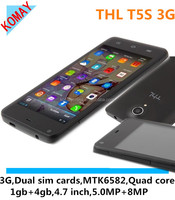 KOMAY mobile phone THL T5S with MT6582 4.7inch QHD Screen Quad Core 8.0mp Camera THL T5S Smart Phone