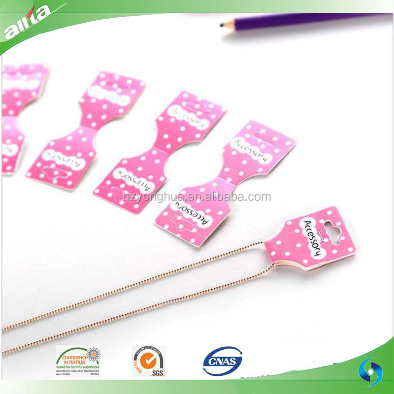 Customized print paper jewelry hang tag new design