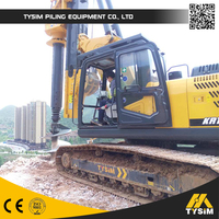 hydraulic piling rotary rig drilling rig KR150C small pile driving machine