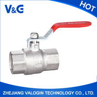 CE , CNAS Manual Power and Standard Bore forged brass ball valve with long red handle (VG-A11011)