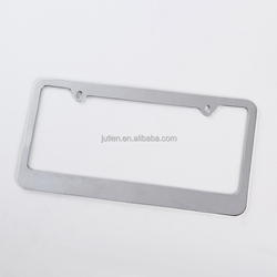 Wholesale cheap metal car number license plate frame stainless steel license plate frame