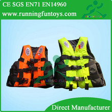 Hot child inflatable water swim vest life jacket, solas foam life jacket, portable life jacket