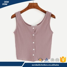 Online Sexy Japanese Korean Fashion Tops With Button Normal Teen Girls Travel Pink Clothing Vest For Ladies