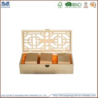 Ancient design wooden tea box, slimming tea green box with compartments