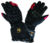 Custom made good quality black cool leather motorbike gloves
