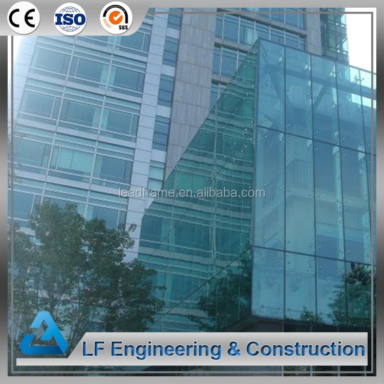 Galvanized steel building glass curtain wall