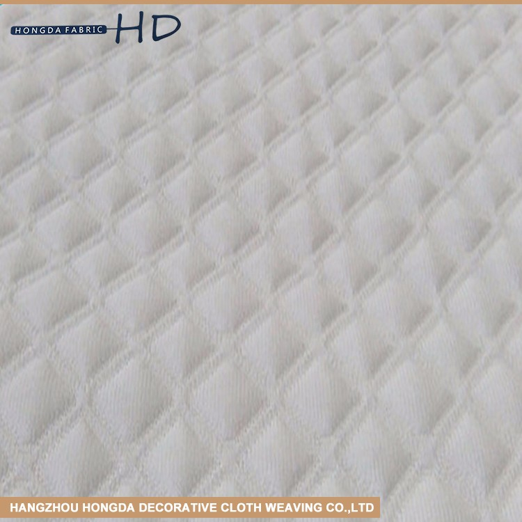 fashion home textile high quality flame retardant 100% polyester knit mattress fabric