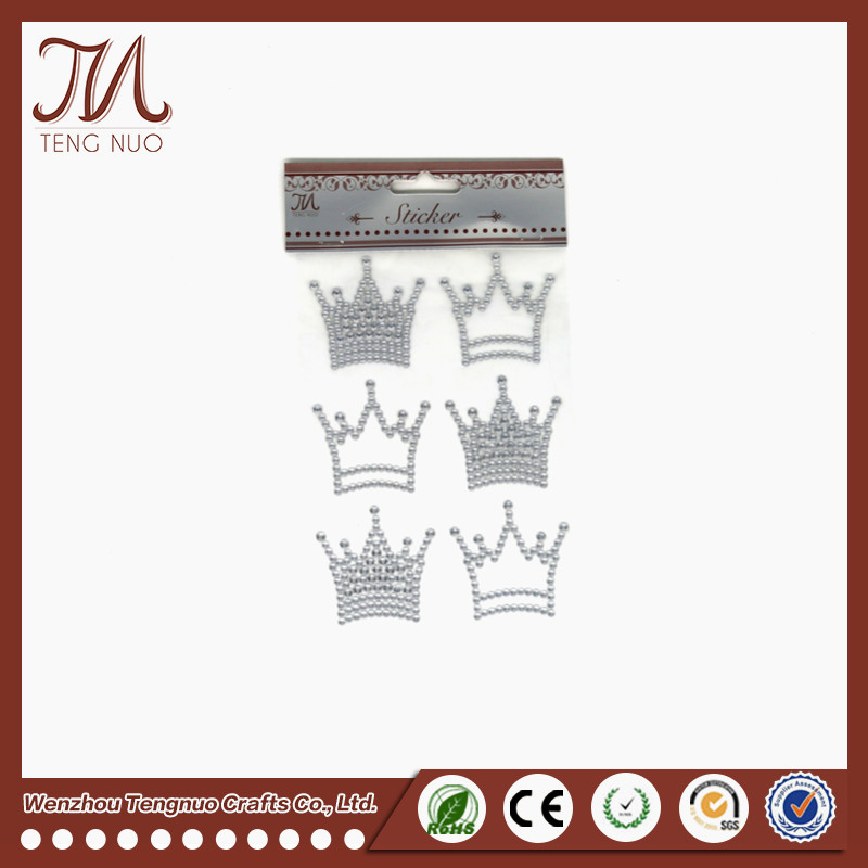 Tengnuo Crystal Rhinestone Crown Sticker