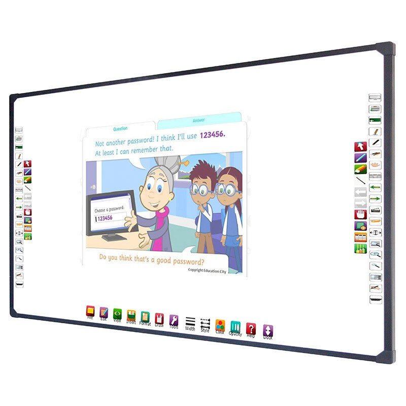 Education School Equipment device 2 Point Digital Vision Touch Interactive whiteboard for teacher