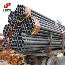 black welded round steel pipe for furniture pipe