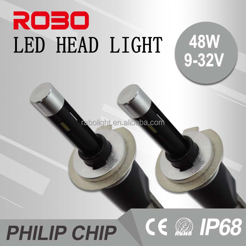 China hot sales automobile accessories R6 5800lm auto parts led bulbs h1 h3 h4 h7 led headlight ip68 led headlamp