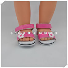 12 inch pink doll shoes