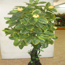Factory price wholesale artificial middle fruit trees with yellow fruit