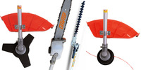 32cc Multifunctional Tool 4 in 1 Pole Saw, Pole Pruner, Hedge Trimmer and Brush Cutter