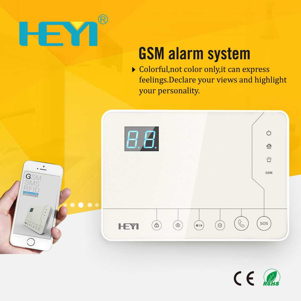 433MHZ frequency home alarmanlage alarm system in family , community, warehouse, banks alarm system