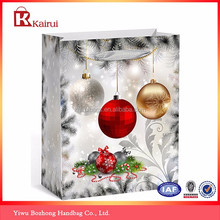 Alibaba China New Products Bling Bling Christmas Ball Design Gift Paper Bag Wholesale