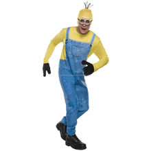 New funny cosplay yellow colors despicable me adult minion costume hot sale AGM4202