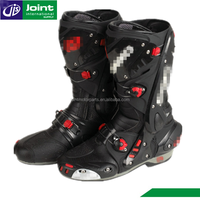 Cool Mens Leather Riding Red Motorcycle Boots Leather Motorbike Racing Shoes
