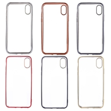 High Quality Electroplating Side TPU Protective Back Cover Case for iPhone X