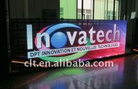 outdoor moving message led display board full color/12mm hd advertising display billboard/shenzhen led screen display