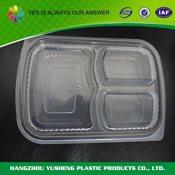 Disposable food tray,custom plastic lunch box,food storage airtight container
