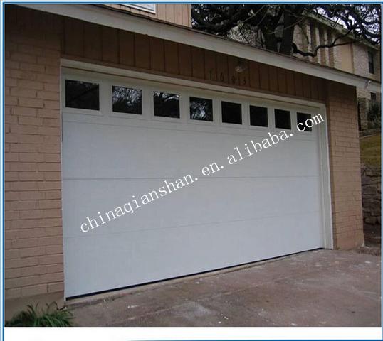 Flat Garage Door With Light Window 9*8 Garage Door