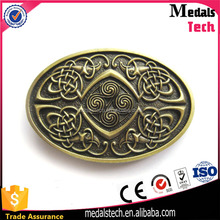 Professional produce eco-friendly good quality bronze plated cheap custom military belt buckle for sale