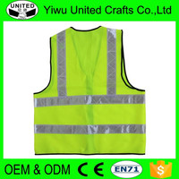 2016 China supplier 100 cotton safety vest for night safety