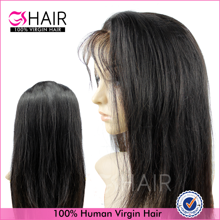 100% high quality human brazilian hair tangle free swiss lace wig 130% density full lace wig